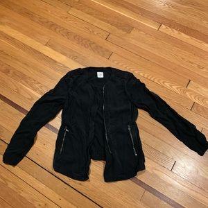 Black Gap jacket. Moto style. Cotton with zipper